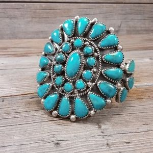 Navajo Evelyn Platero Turquoise cuff